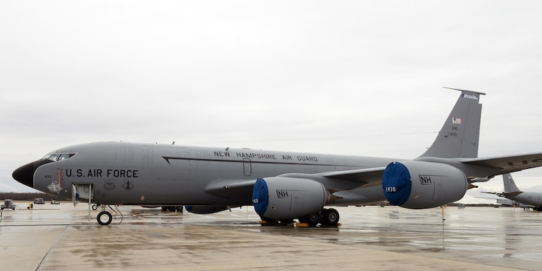 Boeing KC-135R Stratotanker, 57-1430, Pease Air National Guard Base, N.H., April 12, 2016. This aircraft is the 157th Air Refueling Wing's heritage aircraft and is the oldest tanker in the New Hampshire Air National Guard. The markings were applied by Airmen from the 157th Maintenance Group in October 2015. (U.S. Air National Guard photo by Staff Sgt. Curtis J. Lenz)