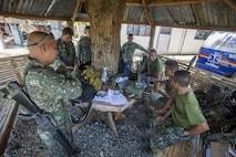 Filipino Marines with 4th Marine Battalion operate with the Entry Control point during Balikatan 2016 (BK 16) on April 11, 2016. The purpose of BK 16 is to strengthen interoperability and partner-nation capabilities for the planning and execution of military operations, and advance regional security operations.