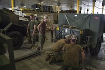 Seabees attached to Naval Mobile Construction Battalion (NMCB) 4 and Marines attached to Combat Logistics Battalion (CLB) 4 load gear and supplies onto USNS Millinocket (T-EPF 3) for exercise Balikatan 2016, April 2, 2016. Balikatan is an annual Philippine-U.S. military bilateral training exercise that is a signature element of the Philippine-U.S. alliance focused on a variety of missions, including humanitarian assistance, maritime law enforcement, and environmental protection.