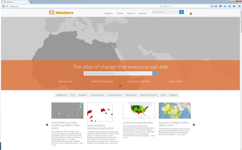 With the advent of the digital age, MapStory's goal is to create a community of knowledge, similar to Wikipedia, to which anyone can contribute.  The contents and information can be constantly improved upon and updated to create crowd-sourced geospatial data collection and visualization capability.