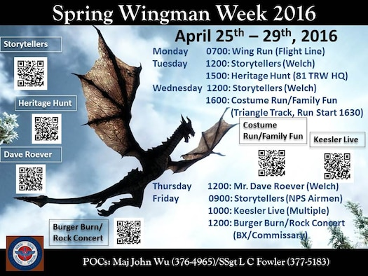Wingman Week schedule