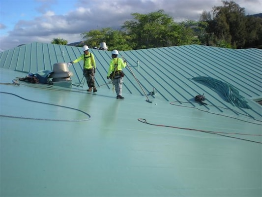 This new roof is similar to the one that will be replacing the current roof at the Turner Hall project in Honolulu, Hawaii.