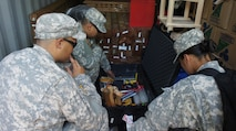 "Members of the Hawaii National Guard CERF-P team inventory their equipment prior to starting the Urban Search and Rescue exercise to be held during Balikatan 2016 April 07, 2016, Camp Capinpin, Philippines. The Hawaii National Guard CERF-P team is supporting Balikatian 2016 through the National Guard State Partnership Program with the aim of building capability across the disaster response forces of both countries. Balikatan, which means ""shoulder to shoulder"" in Filipino, is an annual bilateral training exercise aimed at improving the ability of Philippine and U.S. military forces to work together during planning, contingency and humanitarian assistance and disaster relief operations."