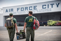 Royal Australian Air Force No 11 Squadron personnel arrive at Clark Air Force Base during Exercise Balikatan 2016.