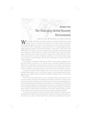 The Emerging Global Security Environment
