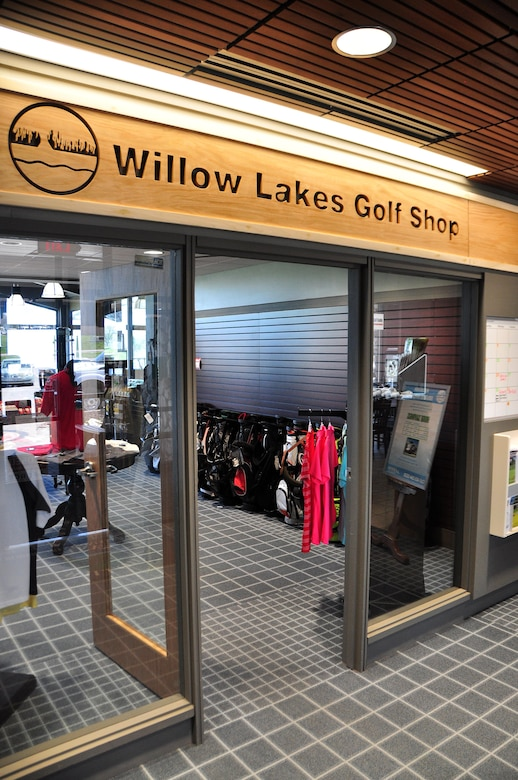 The entrance of the Willow Lakes Golf Course, along with several other features of the golf shop, have been renovated to make the facility more user friendly and inviting to customers at Offutt Air Force Base, Neb.