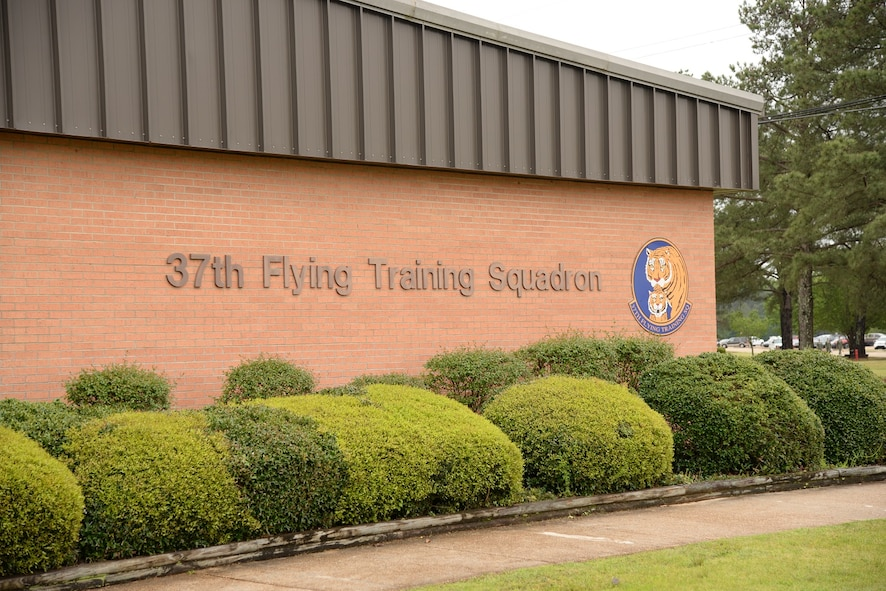 The 37th Flying Training Squadron at Columbus Air Force Base, Mississippi, has been active as a FTS since 1972. Students learn basic aircraft characteristics and control, takeoff and landing techniques, aerobatics, and night, instrument and formation flying in the T-6 Texan II. (U.S. Air Force photo/Airman 1st Class John Day)
