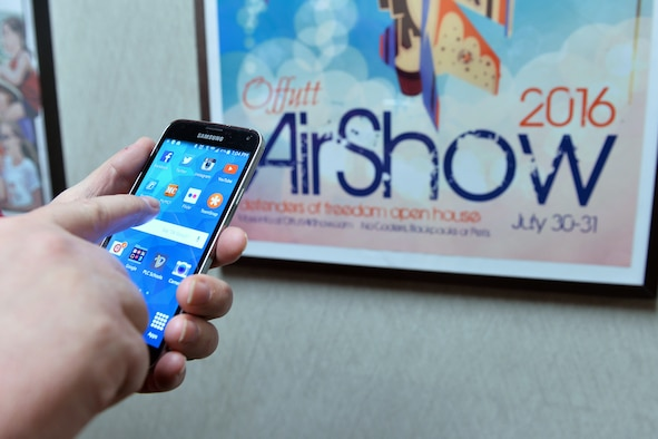 The Orange My Military Communities 2, or MyMC2 app, is an Air Force-wide app that has information on events happening at Air Force Bases across the U.S. The app was developed by the 375th Communication Support Squadron's web application development team at Scott Air Force Base, Ill. (U.S. Air Force photo by Charles Haymond)