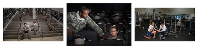 Eliminating sexual assault in the Air Force requires Airmen at all levels to be engaged all year, not just during April, which is designated as Sexual Assault Awareness and Prevention Month. These crimes affect more than individuals involved in the assault. Wingmen must work together to restore their unit's climate and to support assault survivors in their recovery. Sometimes people are blinded by their normal activities to the signs of someone in need of help. (U.S. Air Force photo illustrations by Senior Airman Peter Reft)