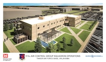 An artist rendering of the new 513th Air Control Group operations facility scheduled to be completed by January 2018. (Courtesy graphic)