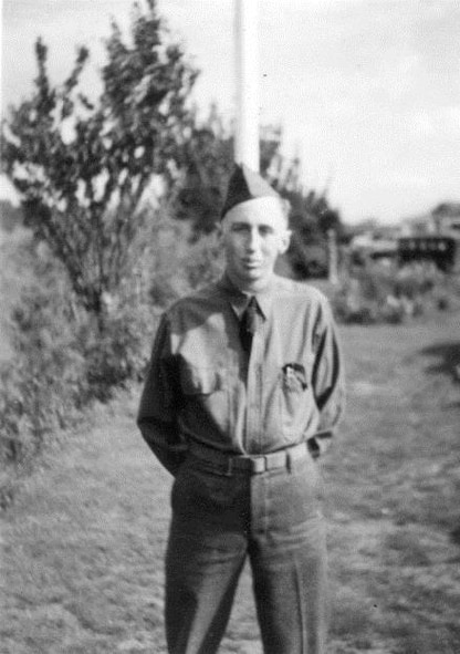 """Private Frederick C. Parish is one of the """"charter members"""" of the 123rd Observation Squadron.  He is shown here in uniform early in his military service.  (Courtesy Mr. Fred C. Parish)"""