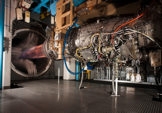 TDAAS enables engineers to quickly gather test data, current and historical, that allows them to evaluate design and engineering processes for next-generation aerospace technologies (like the F135 engine pictured) more efficiently. (U.S. Air Force photo/Rick Goodfriend)