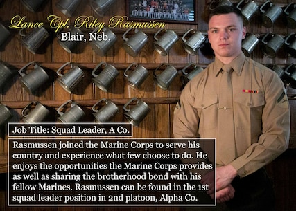 Lance Cpl. Riley Rasmussen