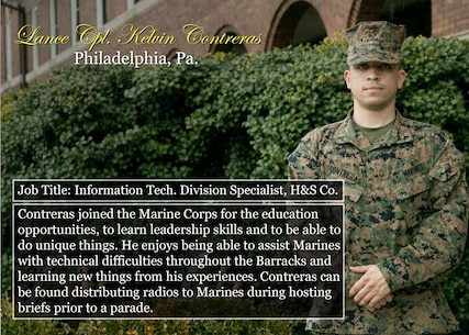 Lance Cpl. Kelvin Contreras