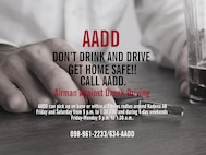 The Airmen Against Drunk Driving program's primary mission is to assist the members of Kadena Air Base with an organized designated-driver program by providing safe, anonymous and free rides to residences in support of preventing alcohol-related incidents. (Graphic by Naoko Shimoji)