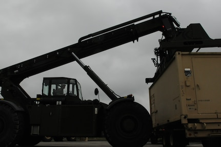 The 364th ESC prepared to move more than 100 pieces of equipment that included containers, wheeled vehicles and other palletized items by land, sea and air to various ports in the United States. The shipments will be loaded onto aircraft and cargo ships bound for Europe later this month. Soldiers in the ESC will use the equipment to conduct their sustainment mission in Poland's Anakonda 16. AN 16 is the largest, periodic (biannual, since 2006) joint exercise of the Polish Armed Forces with the international participation of Allies and Partners. It will take place between 7-17 June 2016 in the military training areas of the whole country and international air and sea space of the Baltic Sea.