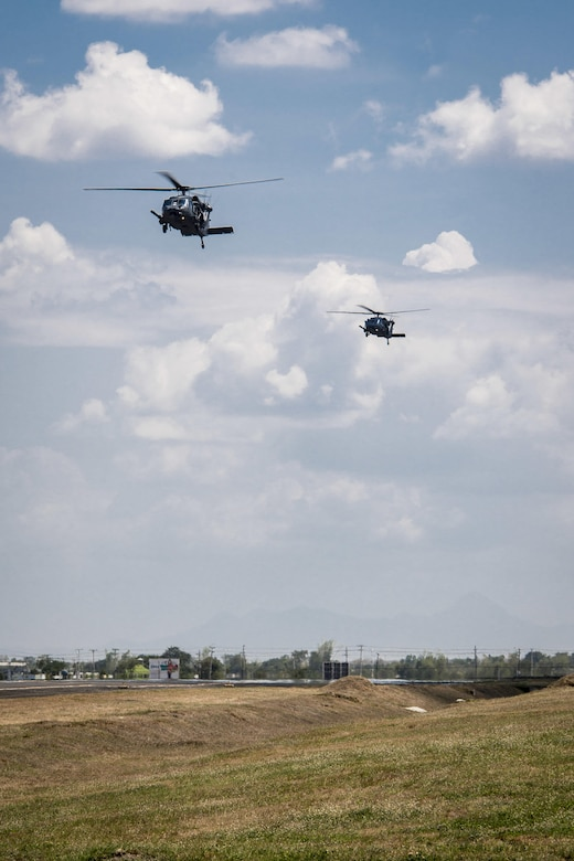 Two U.S. Air Force HH-60G Pave Hawk helicopters, with the 33rd Rescue Squadron, Kadena Air Base, Japan, return to Clark Air Base, Philippines, April 19, 2016, after flying their first operational mission in the region. These missions provide an opportunity to strengthen cooperation and interoperability with our Philippine counterparts and bolster regional security interests and goals. The HH-60Gs are joined by five A-10C Thunderbolt IIs, with the 51st Fighter Wing, Osan Air Base, Republic of Korea, and 200 Pacific Air Forces personnel as part of a newly stood up Air Contingent here conducting operations ranging from air and maritime domain awareness, personnel recovery, combating piracy, and assurance all nations have access to the regional air and maritime domains in accordance with international law. (U.S. Air Force photo by Staff Sgt. Benjamin W. Stratton)