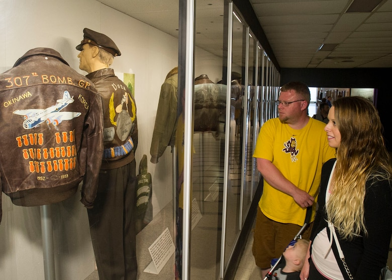 World War II Aviator Jackets exhibit at the National Museum of the U.S. Air Force. (U.S. Air Force photo by Ken LaRock)