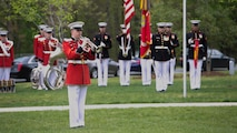 Marines from Marine Barracks Washington D.C. conduct a full honors funeral for Medal of Honor Recipient, Pfc. Hector A. Cafferata Jr., at Quantico National Cemetery, Virginia, April 22, 2016. According to Cafferata's Medal of Honor award citation, on Nov. 28, 1950 while serving as a rifleman with Fox Company, 2nd Battalion 7th Marines, 1st Marine Division, during the Chosin Reservoir Campaign, Cafferata's fortitude, great personal valor, and dauntless perseverance in the face of almost certain death, saved the lives of several of his fellow Marines and contributed essentially to the success achieved by his company in maintaining its defensive position against tremendous odds. Cafferata passed away, April 12, 2016 at the age of 86.