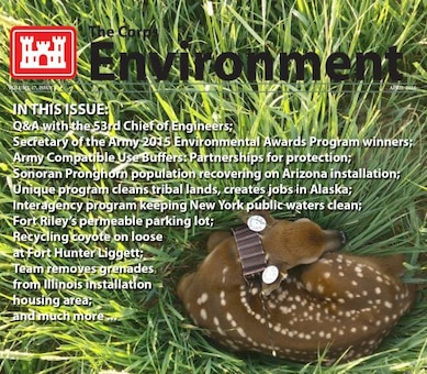 April 2016 Corps Environment cover