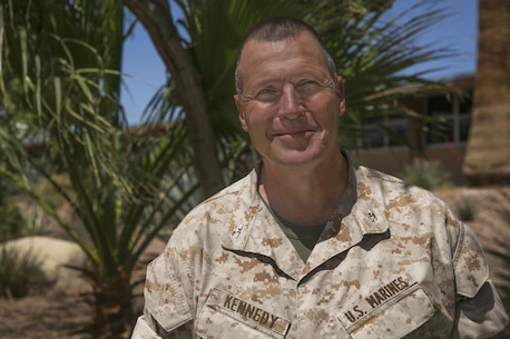 Col. Andrew R. Kennedy, director, Tactical Training and Exercise Control Group, retired after 30-years of honorable service April 15, 2016. Upon retirement, Kennedy is most looking forward to snow when he returns to his home state of New York. (Official Marine Corps photo by Cpl. Medina Ayala-Lo/Released)