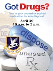 The 66th Security Forces Squadron will hold a one-day Drug Take-Back event April 30 from 10 a.m. to 2 p.m. at the Army and Air Force Exchange Service lobby, Building 1725 and at the installation's two gates.