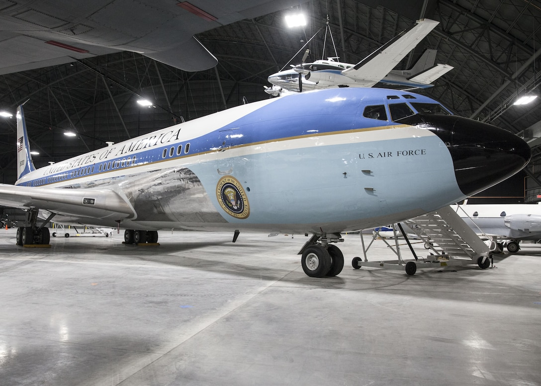 DAYTON, Ohio -- The VC-137C Air Force One (SAM 26000) at the National Museum of the United States Air Force on April 15, 2016. (U.S. Air Force photo by Ken LaRock)