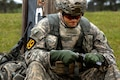 Army Sgt. 1st Class Jonathan Knea loads rounds into a magazine during Best Ranger Competition 2016 at Fort Benning, Ga., April 15, 2016.  Army photo by Spc. Steven Hitchcock