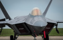 An F-22A Raptor sits parked on the flightline at Mihail Kogalniceanu Air Base, Romania, April 25, 2016. A similar forward deployment also occurred at Šiauliai Air Base Air Base, Lithuania, April 27, 2016. The aircraft will conduct air training with other Europe-based aircraft and will also forward deploy from England to maximize training opportunities while demonstrating U.S. commitment to NATO allies and the security of Europe. The Raptors are deployed from the 95th Fighter Squadron at Tyndall Air Force Base, Florida. (U.S. Air Force photo/Tech. Sgt. Ryan Crane)