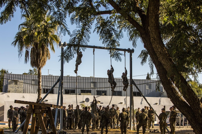 U.S. Marines with Black Sea Rotational Force participate in a physical training exercise for Exercise Juniper Cobra in Israel, Feb. 13, 2016. JC is a combined Israeli-U.S. exercise designed to improve interoperability between the two countries' armed forces.