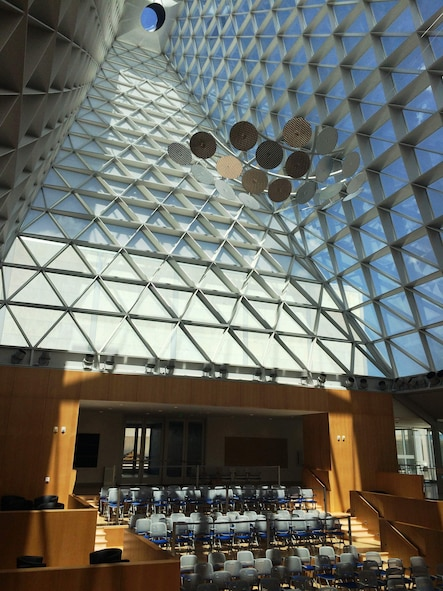 An interior view of Polaris Hall at the U.S. Air Force Academy. (U.S. Air Force photo/Jasmine Reif)