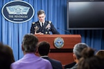 Army Gen. Joseph L. Votel, commander of U.S. Central Command, briefs reporters on the investigation into an Oct. 3, 2015 airstrike in Kunduz, Afghanistan, during a news conference at the Pentagon, April 29, 2016. DoD photo by Army Sgt. 1st Class Clydell Kinchen