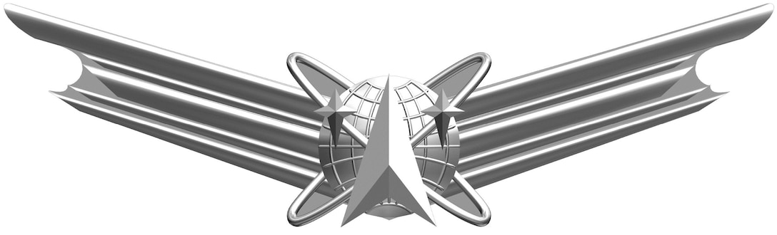 The Space Badge can be awarded to active Army, Army Reserve and National Guard Soldiers who successfully complete appropriate space-related training and attain the required Army space cadre experience. There are three levels of the Space Badge: basic, senior and master. (Courtesy illustration)