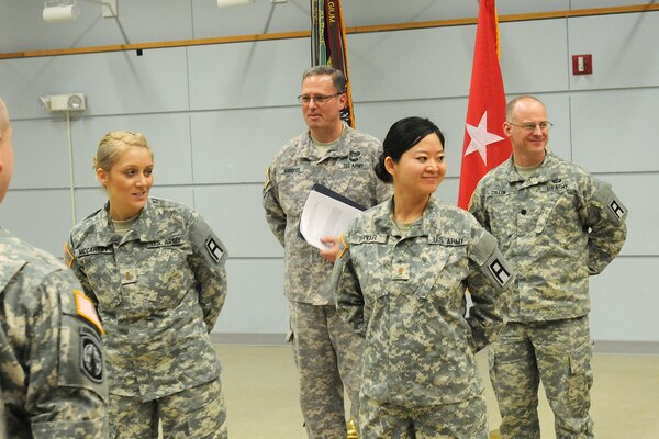 Army reserve officer shares her story during asianpacific second lt jiaru bryar right 3rd battalion 335 regiment smiles during sciox Gallery