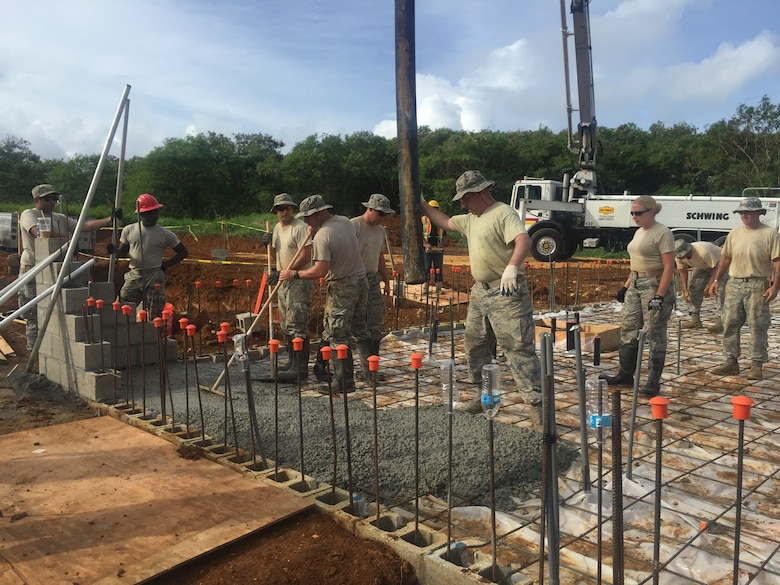 102nd Civil Engineer Squadron construct homes in Guam