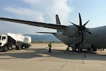 A ground crew fuels a Bulgarian C-27 Spartan aircraft at Plovdiv Airport in Bulgaria during Thracian Summer 2016, a joint U.S. and Bulgarian field training deployment exercise held July 9-22. Defense Logistics Agency Energy coordinated the acquisition and delivery of 1.5 million gallons of jet fuel in support of the exercise.