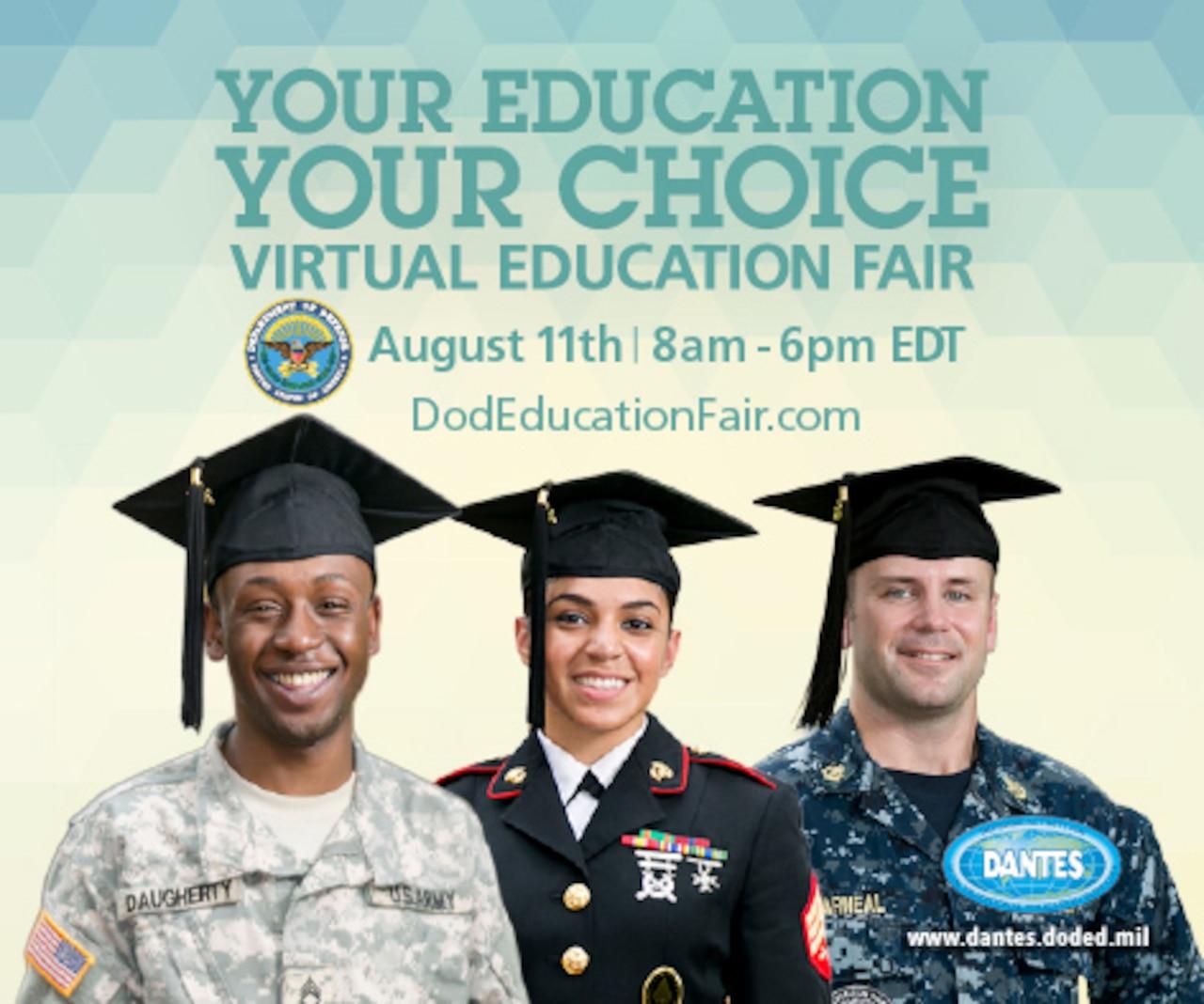 DANTES Virtual Education Fair promo graphic