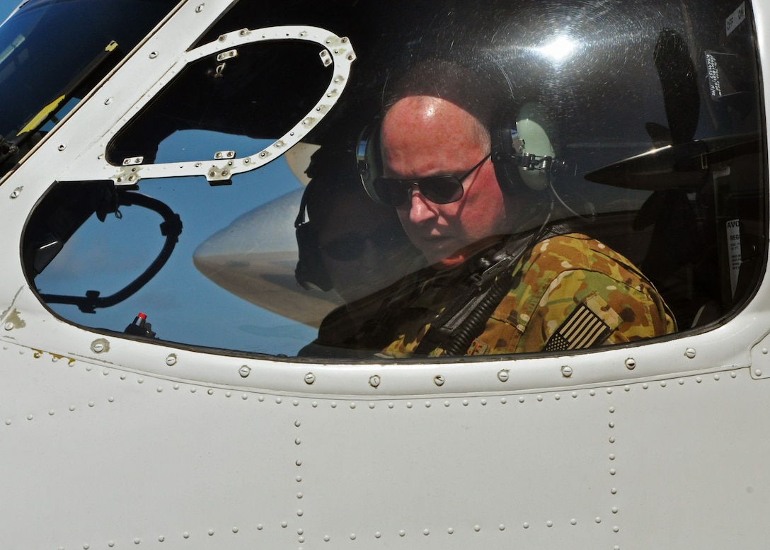 Maj. Gen. Eugene Haase, Air Force Special Operations Command vice commander, prepares to taxi his C-145A Skytruck on the Duke Field, Fla., flightline July 28, 2016.  Haase spent the day getting a close-up look at how Duke's Reserve and active-duty Airmen work seamlessly under the Total Force Integration concept to perform their shared AFSOC mission sets. (U.S. Air Force photo/Dan Neely)