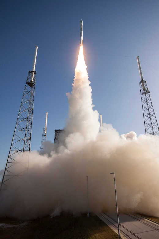 An Atlas V rocket carrying a payload for the National Reconnaissance Office (NRO) lifted off from Cape Canaveral AFS' Space Launch Complex-41 July 28 at 8:37 a.m. EDT. Designated NROL-61, the mission is in support of national defense.  (ULA photo)