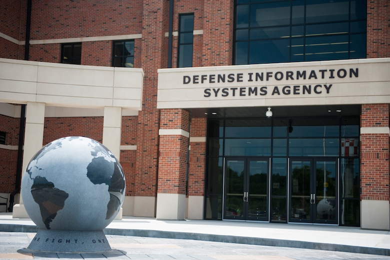 The Defense Information Systems Agency is a combat support agency of the Department of Defense and is composed of nearly 6,000 civilian employees; more than 1,500 active duty service members; and approximately 7,500 defense contractors. DISA provides, operates, and assures command and control and information-sharing capabilities in direct support to joint warfighters, national level leaders, and other mission and coalition partners. (U.S. Air Force photo by Staff Sgt. Clayton Lenhardt/Released)