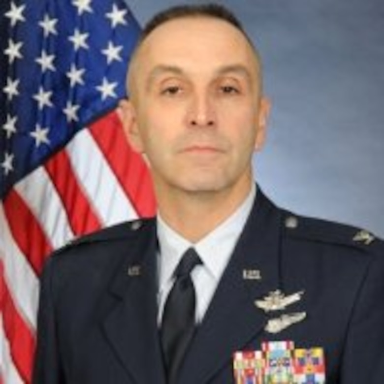 Official photo of Col. Lloyd Buzzell, 20th Air Force vice commander and Task Force 214 deputy commander. (U.S. Air Force courtesy photo)