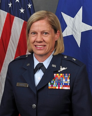 Brig. Gen. Christine Burckle will assume command of the Utah Air National Guard during a ceremony on Aug. 6, 2016 at Roland R. Wright Air National Guard Base in Salt Lake City. With this new assignment, Burckle will become the Utah Air National Guard's highest-ranking official, as well as the state's first National Guard female general officer and the first woman to serve as Commander of the Utah Air National Guard. (U.S. Air National Guard photo by Staff Sgt. Annie Edwards)