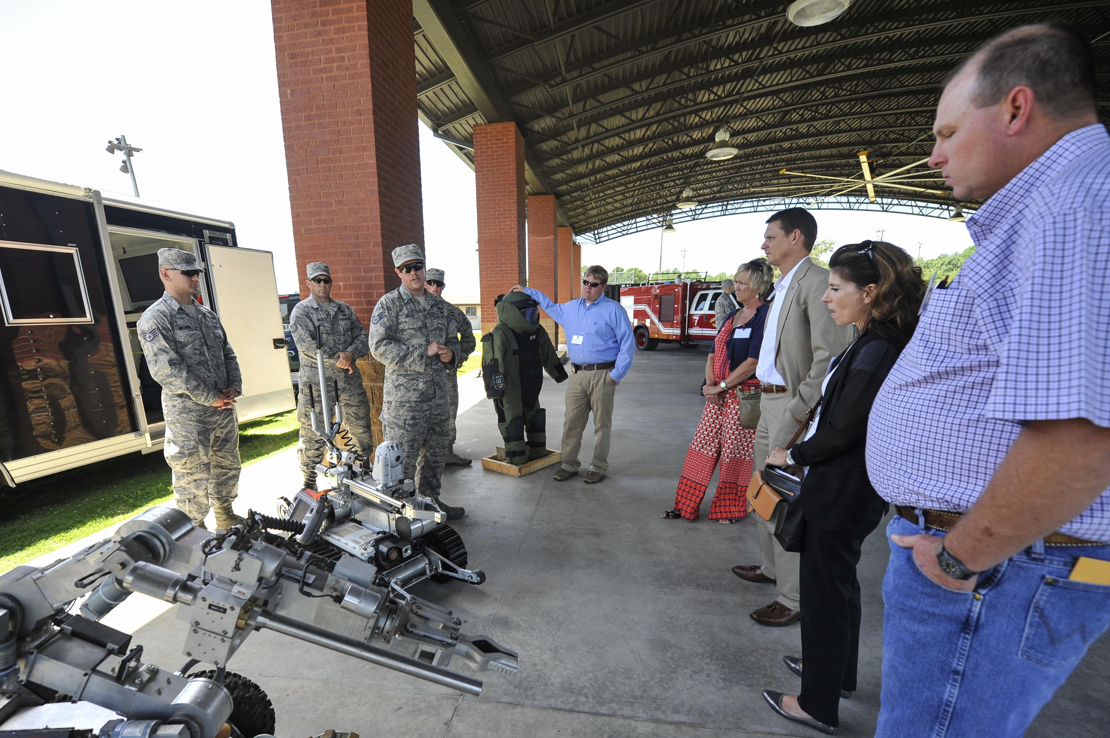 Altus Air Force Base, Okla., Civic Leaders Toured Little Rock Air Force Base