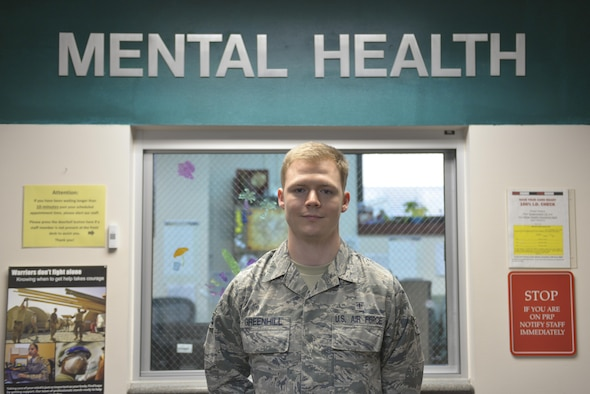 U.S. Air Force Airman 1st Class Terence Greenhill, a 354th Medical Group mental health technician, takes a quick photo break Aug. 3, 2016, at Eielson Air Force Base, Alaska. Greenhill said his favorite part of his job is engaging in outreach to each individual unit on base. (U.S. Air Force photo by Airman Isaac Johnson)