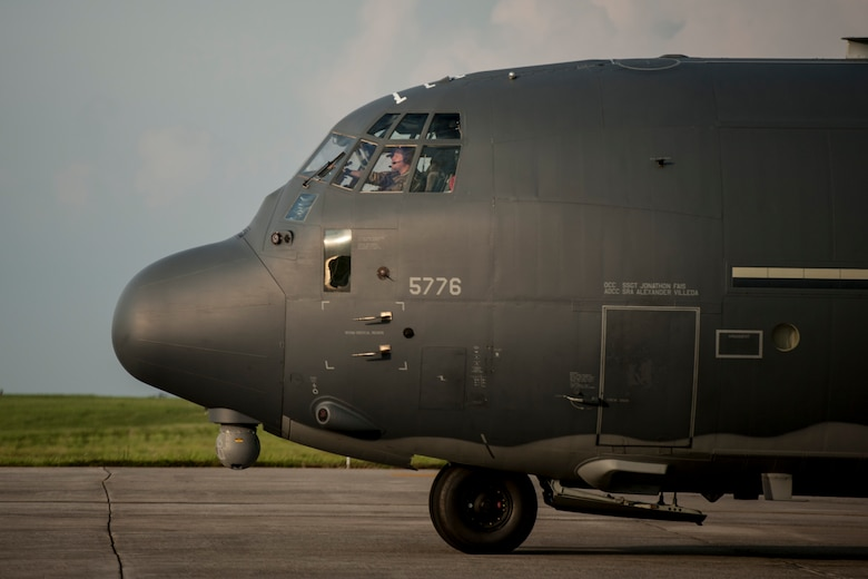 An MC-130H Combat Talon II taxis on the flight line July 28, 2016, at Kadena Air Base, Japan. The Combat Talon II features a suite of terrain-following and terrain-avoidance radars operating as low as 250-feet in adverse weather conditions, which enable the aircraft to make short runway landings with pinpoint accuracy day or night. (U.S. Air Force photo by Senior Airman Peter Reft)