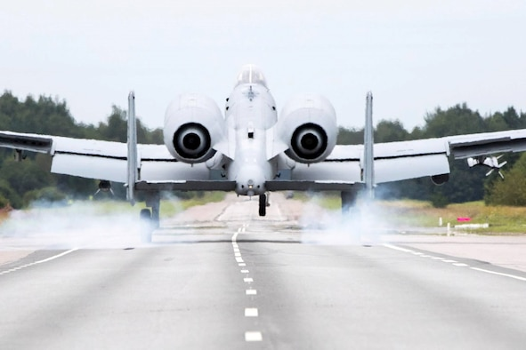 Eight United States Air Force Reserve Command A-10s assigned to the 442nd Fighter Wing, Whiteman Air Force Base, Missouri, conducted highway landings on the Jägala-Käravete Highway in Northern Estonia, Aug 1. Eight successful landings and take-offs from the highway not only displays the U.S. Air Force's tactical capabilities, it also displays the partnership between the U.S. and Estonia that allowed for the coordination of the event. (Courtesy photo/ Andres Putting)