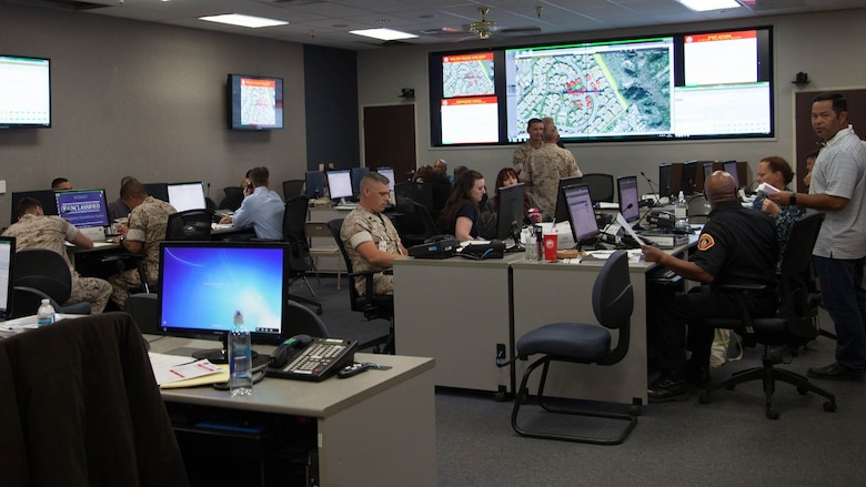 Marine Corps Base Camp Pendleton, Marine Corps Installations - West, conducts Exercise Citadel Rumble, Aug. 2-5. Exercise Citadel Rumble is an integrated disaster response and recovery exercise for emergency response plans, polices, and procedures as they pertain to an all-hazards event. This scenario encompassed a 6.8 magnitude earthquake that occurred in Southern California.