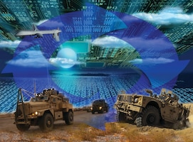 The Integrated Cyber and Electronic Warfare, or ICE, program at the Army Research, Development and Engineering Command's Communications-Electronics Research, Development and Engineering Center or CERDEC, looks to leverage cyber and electronic warfare capabilities like those on display at DARPA's Cyber Grand Challenge as an integrated system to increase a commander's situational awareness. CERDEC is focusing its science and technology efforts on researching solutions to address specific cyber and electronic warfare threats and developing the architecture onto which scientists and engineers can rapidly develop and integrate new more capable solutions. U.S. Army illustration