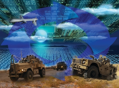 The Integrated Cyber and Electronic Warfare, or ICE, program at the Army Research, Development and Engineering Command's Communications-Electronics Research, Development and Engineering Center, or CERDEC, looks to leverage cyber and electronic warfare capabilities like those on display at DARPA's Cyber Grand Challenge as an integrated system to increase a commander's situational awareness. CERDEC is focusing its science and technology efforts on researching solutions to address specific cyber and electronic warfare threats and developing the architecture onto which scientists and engineers can rapidly develop and integrate new more capable solutions. U.S. Army illustration