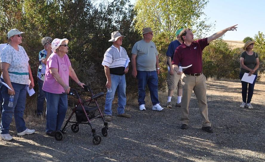 A Restoration Advisory Board tours Beale Air Force Base, California. The tour focuses on an installation mission and restoration site visit. Participation includes concerned community members, Board members, Beale AFB residents, and civic leaders (Courtesy photo)